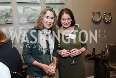 Leslie Cockburn, Nancy Greenspan. Photo by Tony Powell. 2019 WildAid Gathering. May 2, 2019