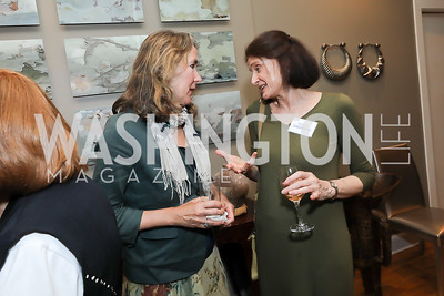 Leslie Cockburn, Nancy Greenspan. Photo by Tony Powell. 2019 WildAid Gathering. May 2, 2019