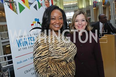 "Kim Bassett, Marie Royce. Photo by Tony Powell. 2019 ""Winternational."" Reagan Building. December 5, 2019"
