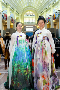 "Greater Korea Foundation's Nicole Holland, Michelle Misook Won. Photo by Tony Powell. 2019 ""Winternational."" Reagan Building. December 5, 2019"