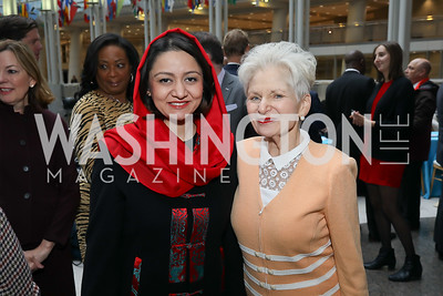 "Afghanistan Amb. Roya Rahmani, Edie Fraser. Photo by Tony Powell. 2019 ""Winternational."" Reagan Building. December 5, 2019"