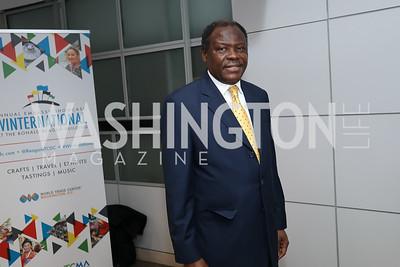 "Cameroon Amb. Henry Etoundi. Photo by Tony Powell. 2019 ""Winternational."" Reagan Building. December 5, 2019"