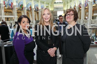 "Allison McKithen, Susan Lehrman, Kimberly Heatherington. Photo by Tony Powell. 2019 ""Winternational."" Reagan Building. December 5, 2019"