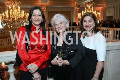 Naira Babayan, Doris George, Lisa Barsoomian. Photo by Tony Powell. 2019 Young Concert Artists Gala. NMWA. April 23, 2019