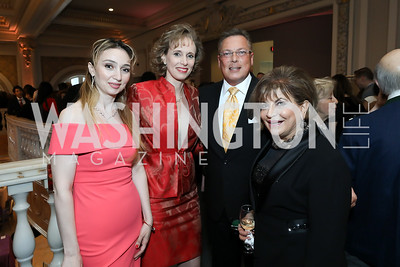 Narine Malkhasyan, Patricia and Timothy Trudeau, Annie Totah. Photo by Tony Powell. 2019 Young Concert Artists Gala. NMWA. April 23, 2019