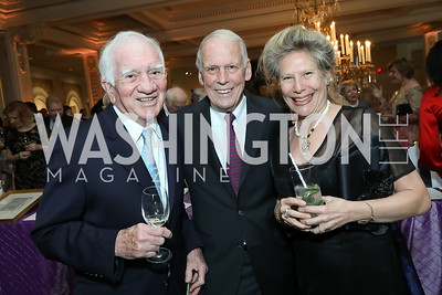 Amb. Paul Hare, Amb. Walter Cutler, Michelle Krisel. Photo by Tony Powell. 2019 Young Concert Artists Gala. NMWA. April 23, 2019
