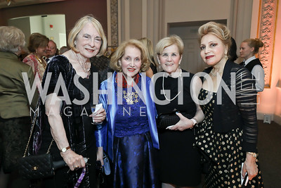 Jeannne Mitchler-Fiks, Juliet Six, Susan Rosenfeld, Sara Assar. Photo by Tony Powell. 2019 Young Concert Artists Gala. NMWA. April 23, 2019