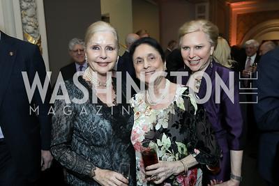 Judy Esfandiary, Susan Wadsworth, Olga Ryan. Photo by Tony Powell. 2019 Young Concert Artists Gala. NMWA. April 23, 2019