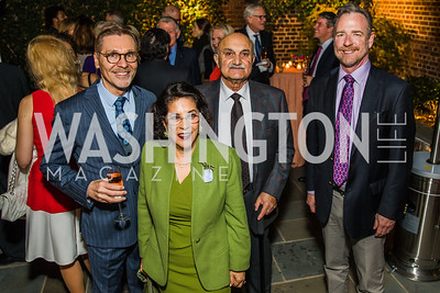Michael Olding, Shahin Mafi, Hassan Massali, Chris Morrison.  Photo by Alfredo Flores. A Celebration for Grace. Residence of Monaco. October 29, 2019.