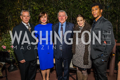 Victor Barbee, Ambassador of Monaco Maguy Maccario Doyle, John F. Lehman, Julie Kent, Gian Carlo Perez , Photo by Alfredo Flores. A Celebration for Grace. Residence of Monaco. October 29, 2019.