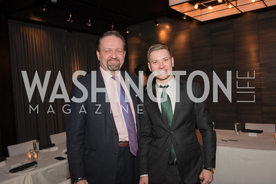 Sebastian Gorka, Yair Netanyahu, AIPAC Dinner, Advanced Security Training Institute, Hosted by Martha Boneta, March 24, 2019, Photo by Ben Droz.