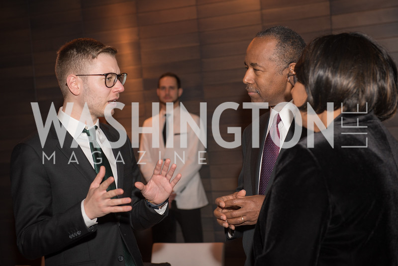 Yisroel Stefansky, Secretary Ben Carson, AIPAC Dinner, Advanced Security Training Institute, Hosted by Martha Boneta, March 24, 2019, Photo by Ben Droz.