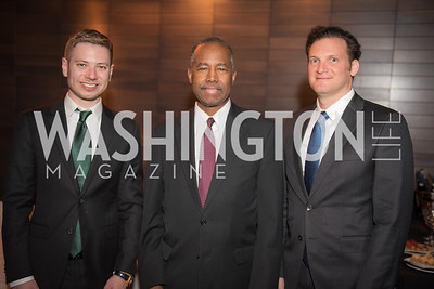 Yair Netanyahu, Secretary Ben Carson, Yisroel Stefansky,  AIPAC Dinner, Advanced Security Training Institute, Hosted by Martha Boneta, March 24, 2019, Photo by Ben Droz.