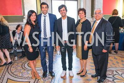 Divya Khosla, Sanjay Khosla,  Sid Khosla, Savita Khosla, Dinesh Khosla . Photo by Alfredo Flores. The ASCAP Foundation We Write the Songs 2019. The Library of Congress. May 20, 2019