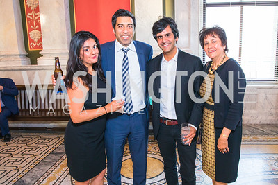 Divya Khosla, Sanjay Khosla,  Sid Khosla, Savita Khosla, . Photo by Alfredo Flores. The ASCAP Foundation We Write the Songs 2019. The Library of Congress. May 20, 2019