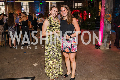 Ann Beth Jager, Ella Richardson.  Photo by Alfredo Flores. Advoc8 Party. AutoShop at Union Market. October 2, 2019.