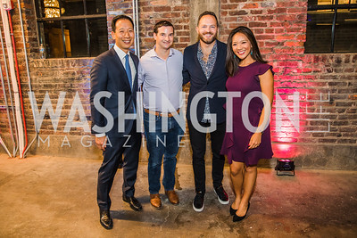 Tom Michael, Josh Sharp,  John Legittino,  Nancy Chen .  Photo by Alfredo Flores. Advoc8 Party. AutoShop at Union Market. October 2, 2019..dng