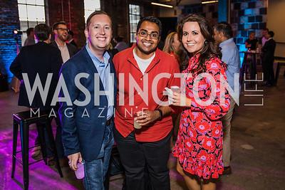 Sergio Got, Polson Kanneth, Lauren Pratapas. Photo by Alfredo Flores. Advoc8 Party. AutoShop at Union Market. October 2, 2019.