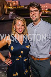 Sarah Linden, Jason Vassilicos. Photo by Alfredo Flores. Advoc8 Party. AutoShop at Union Market. October 2, 2019.