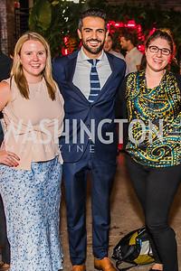 Allison Malloy, Jeremy Diamond, Katelyn Polantz. Photo by Alfredo Flores. Advoc8 Party. AutoShop at Union Market. October 2, 2019.