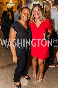 Tamiko Washington, Michaela Albano, Photo by Alfredo Flores. Advoc8 Party. AutoShop at Union Market. October 2, 2019.