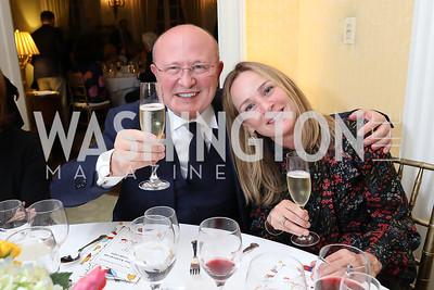 Franco Nuschese, Kathleen Biden. Photo by Tony Powell. Alliance Francaise 70th Anniversary. April 11, 2019