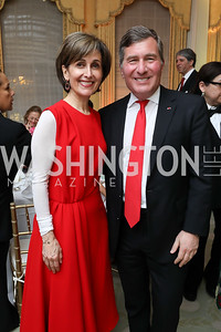 Amb. Dina Kawar, Amb. Charles Rivkin. Photo by Tony Powell. Alliance Francaise 70th Anniversary. April 11, 2019