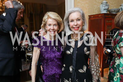 Bobbie Brewster, Nina Pillsbury. Photo by Tony Powell. Alliance Francaise 70th Anniversary. April 11, 2019