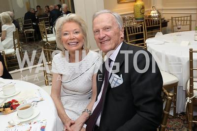 Joan Carl, Brian Conboy. Photo by Tony Powell. Alliance Francaise 70th Anniversary. April 11, 2019