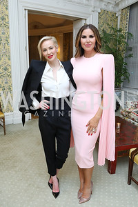 Louise Linton, Amy Baier. Photo by Tony Powell. Alliance Francaise 70th Anniversary. April 11, 2019