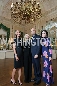 Cleo Gewirz, Meg Clerc, Christian Clerc, Tracy Bernstein. Photo by Tony Powell. Alliance Francaise 70th Anniversary. April 11, 2019