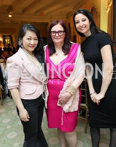 Mindy Lam, Alliance Francaise Exec. Dir. Sarah Diligenti, Isabelle Raquin. Photo by Tony Powell. Alliance Francaise 70th Anniversary. April 11, 2019