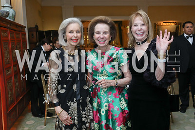 Nina Pillsbury, Ellen Boer, Junia Doan. Photo by Tony Powell. Alliance Francaise 70th Anniversary. April 11, 2019