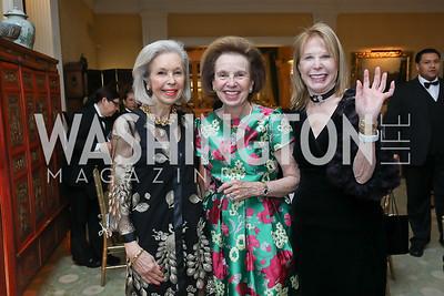 Nina Pillsbury, Ellen Boer, Junia Doan. Photo by Tony Powell. Alliance Francaise 70th Anniversary. April 11, 2019