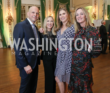 Christian Clerc, Meg Clerc, Alison Shulman, Kathleen Biden. Photo by Tony Powell. Alliance Francaise 70th Anniversary. April 11, 2019