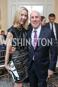 Carole Funger, Tom Gage. Photo by Tony Powell. Alliance Francaise 70th Anniversary. April 11, 2019