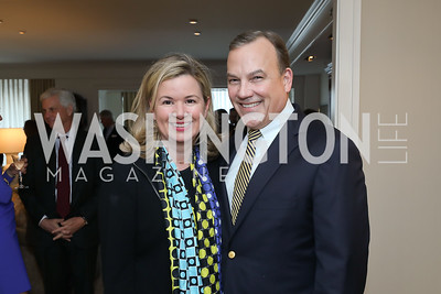 """Mary Streett and Clyde Tuggle. Photo by Tony Powell. Douglas Brinkley """"American Moonshot"""" Book Party. April 1, 2019"""