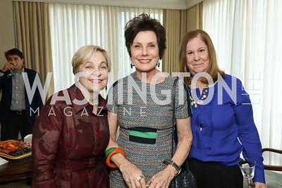 "Francesca Craig, Maureen Orth, Susan Koch. Photo by Tony Powell. Douglas Brinkley ""American Moonshot"" Book Party. April 1, 2019"