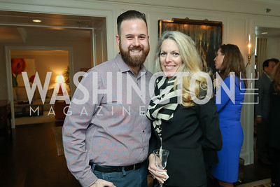 "David Hoffman, Jennifer Vinson. Photo by Tony Powell. Douglas Brinkley ""American Moonshot"" Book Party. April 1, 2019"