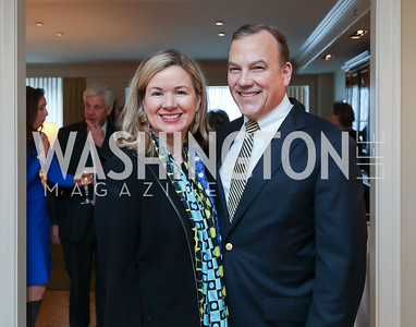 """Mary Streett and Clyde Tuggle. Photo by Tony Powell. Douglas Brinkley """"American Moonshot"""" Book Party. April 1, 2019.JPG"""