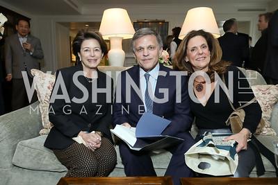 "Toni Verstandig, Douglas Brinkley, Jill Trimble. Photo by Tony Powell. Douglas Brinkley ""American Moonshot"" Book Party. April 1, 2019"