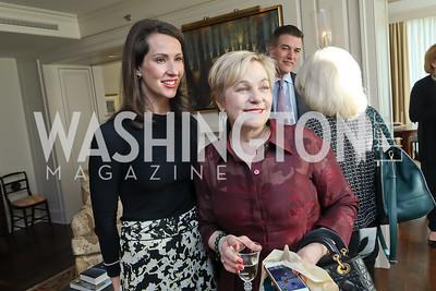 "Natalie Jones, Francesca Craig. Photo by Tony Powell. Douglas Brinkley ""American Moonshot"" Book Party. April 1, 2019"