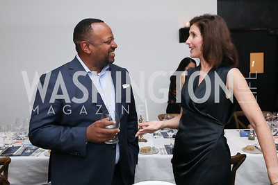 Roger Fairfax, Christine Harrison. Photo by Tony Powell. 2019 BGCA Spring Dinner. Metier. May 15, 2019