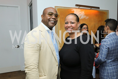 Emil Hill, Nicole Venable. Photo by Tony Powell. 2019 BGCA Spring Dinner. Metier. May 15, 2019