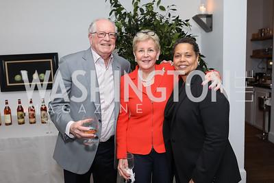 Harold and Nancy Zirkin, Gabrielle Webster. Photo by Tony Powell. 2019 BGCA Spring Dinner. Metier. May 15, 2019