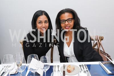Jaya Sundaram, Maja Hazell. Photo by Tony Powell. 2019 BGCA Spring Dinner. Metier. May 15, 2019