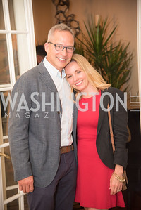 """Winston Boa Lord, Stephanie Cate Lord, Book Party with Ambassador Winston Lord, """"Kissinger on Kissinger"""", and Jim Sciutto, """"The Shadow War"""", at the home of Juleanna Glover and Christopher Reiter.  Summer 2019, Photo by Ben Droz."""