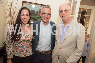 "Karin Tanabe, Winston Bao Lord, Kevin Chaffee, Book Party with Ambassador Winston Lord, ""Kissinger on Kissinger"", and Jim Sciutto, ""The Shadow War"", at the home of Juleanna Glover and Christopher Reiter.  Summer 2019, Photo by Ben Droz."