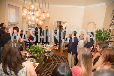 """Book Party with Ambassador Winston Lord, """"Kissinger on Kissinger"""", and Jim Sciutto, """"The Shadow War"""", at the home of Juleanna Glover and Christopher Reiter.  Summer 2019, Photo by Ben Droz."""