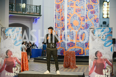 Tariq Darrell O'Meally,  By The People, Arts Festival, Smithsonian Arts and Industries Building, June 14th, 2019.  Photo by Ben Droz.